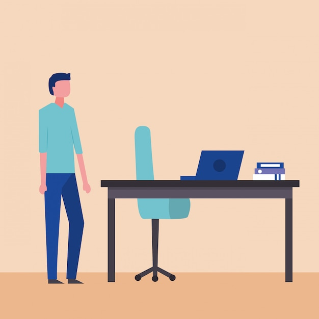 People business in office Free Vector