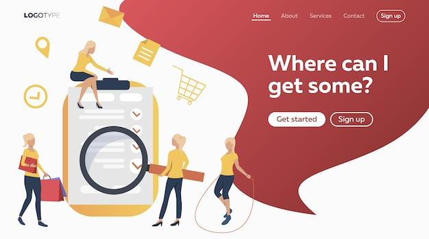People buying online Free Vector