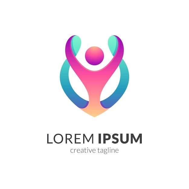 People care logo template Premium Vector