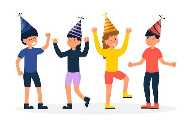 People celebrating together Free Vector