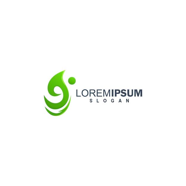 People colorful logo design Premium Vector