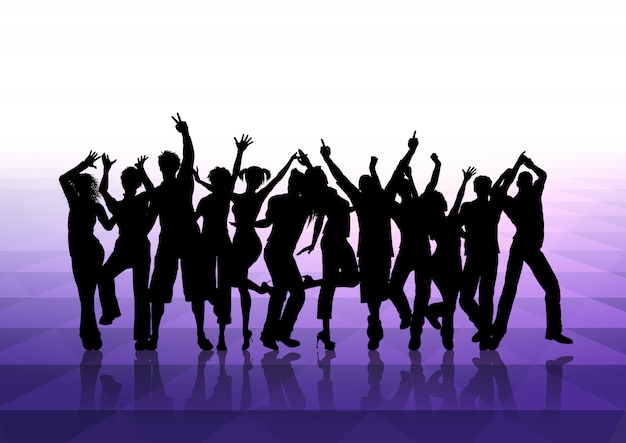 People dancing background  Free Vector
