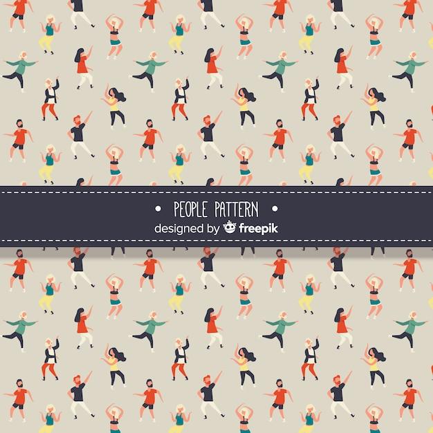People dancing pattern Free Vector