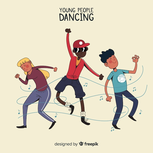 People dancing Free Vector