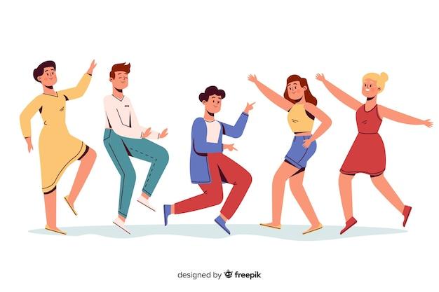 People dancing Free Vector