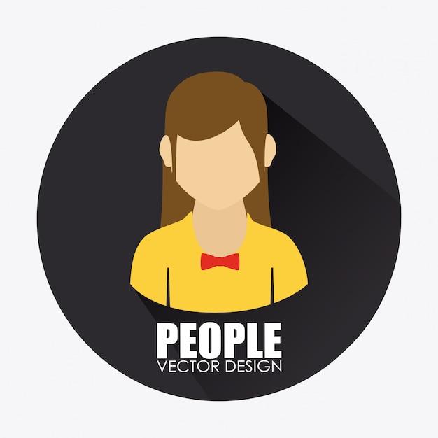 People design illustration Free Vector