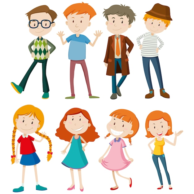 People designs collection Free Vector