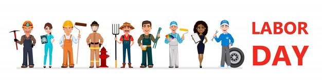 People of different occupations. labor day Premium Vector