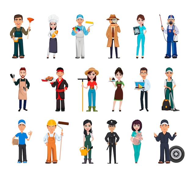 People of different occupations Premium Vector