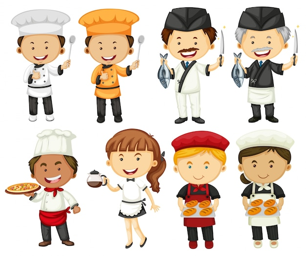 People doing different types of occupations Free Vector