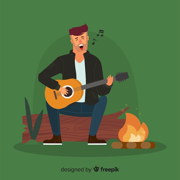 People doing outdoor activities background Free Vector