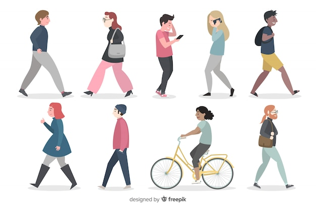 People doing things 2 Free Vector