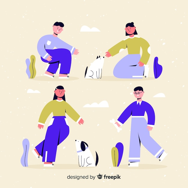 People doing things Free Vector