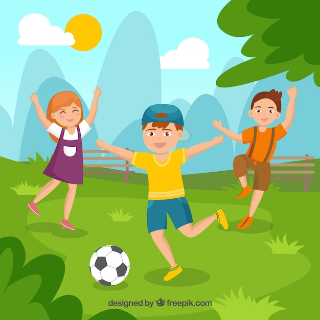 People enjoying open air leisure activities Free Vector