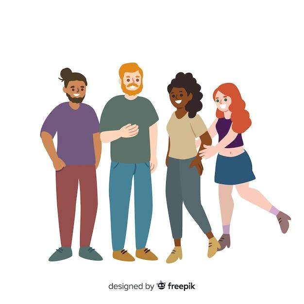 Люди разных рас и культур Бесплатные векторы