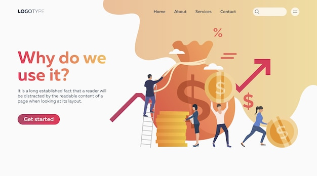 People getting profit Free Vector