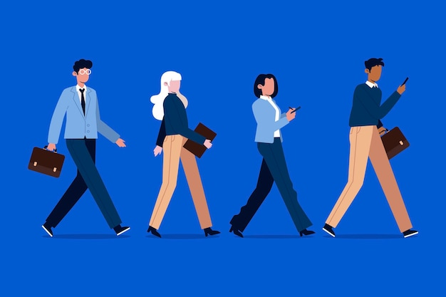 People going back to work Free Vector