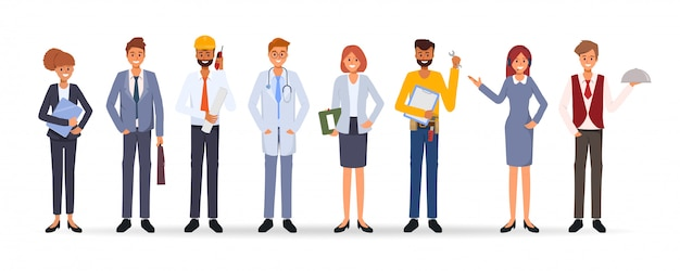 People group different occupation job international labor day Premium Vector