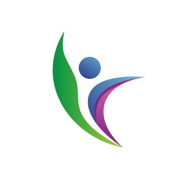 People health logo vector Vector | Premium Download