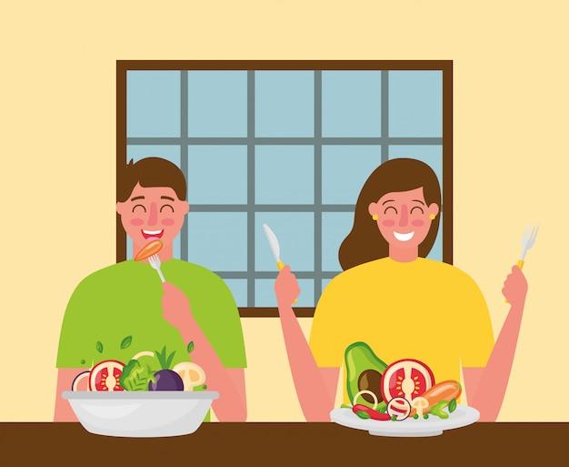 People healthy food Free Vector