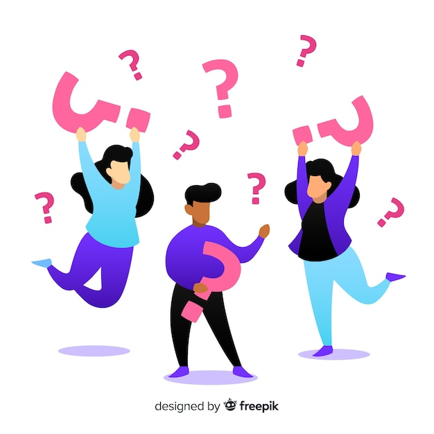 People Holding Question Marks Vector Free Download