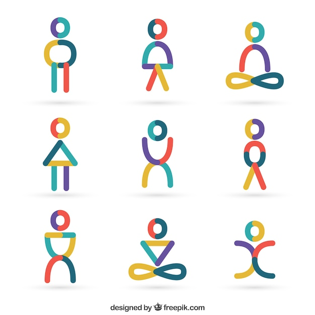 People icons in abstract style