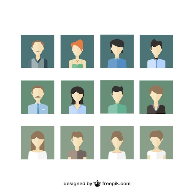 People icons pack Free Vector