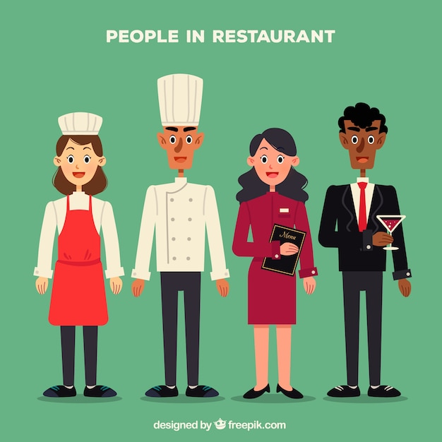 People in restaurant collection