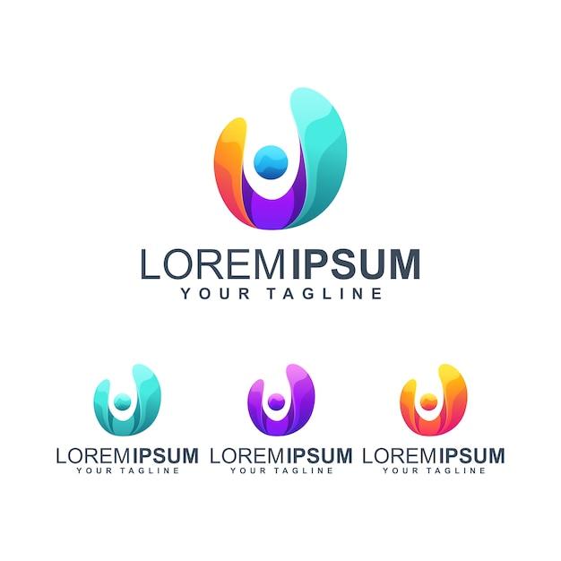 People logo Premium Vector