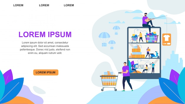 People making online shopping Premium Vector