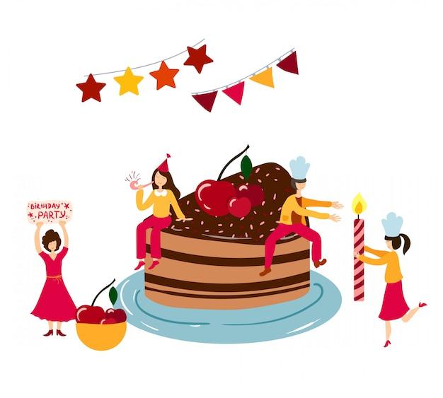 Prime People Men Women Cooking Decorating Birthday Cake Premium Birthday Cards Printable Benkemecafe Filternl