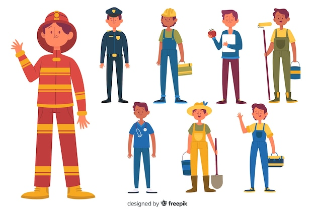 People occupation collection Free Vector