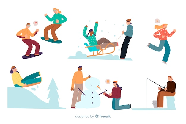 People outdoors Free Vector