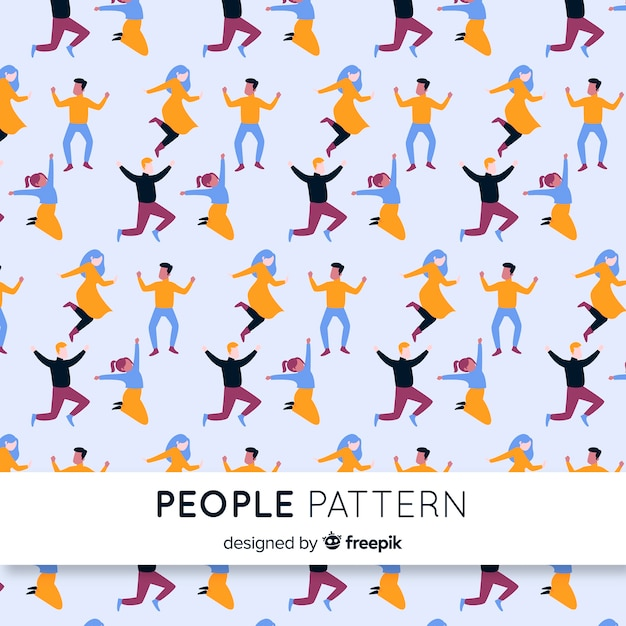 People pattern Free Vector