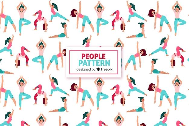 People pattern Free Vector