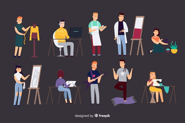 People and professions Free Vector