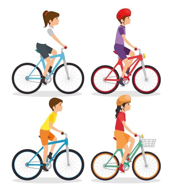 乗馬のバイク Premiumベクター