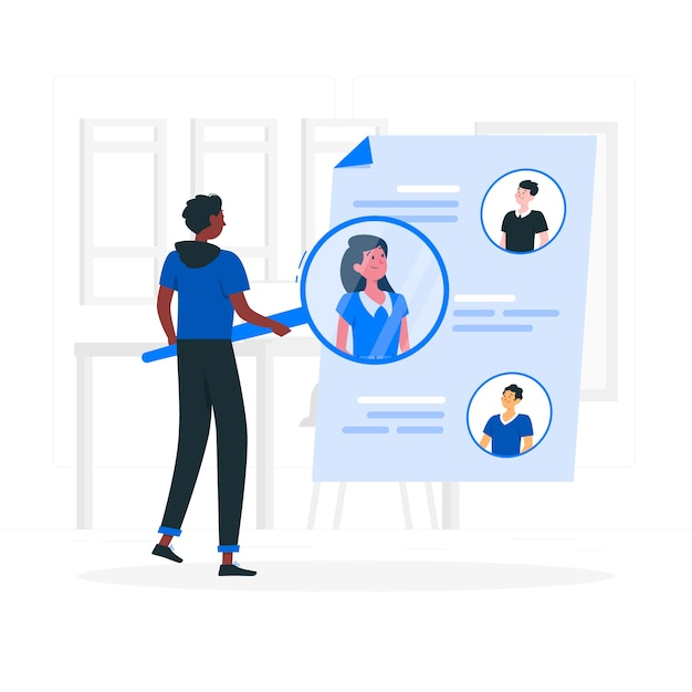 Иллюстрация концепции поиска людей Бесплатные векторы