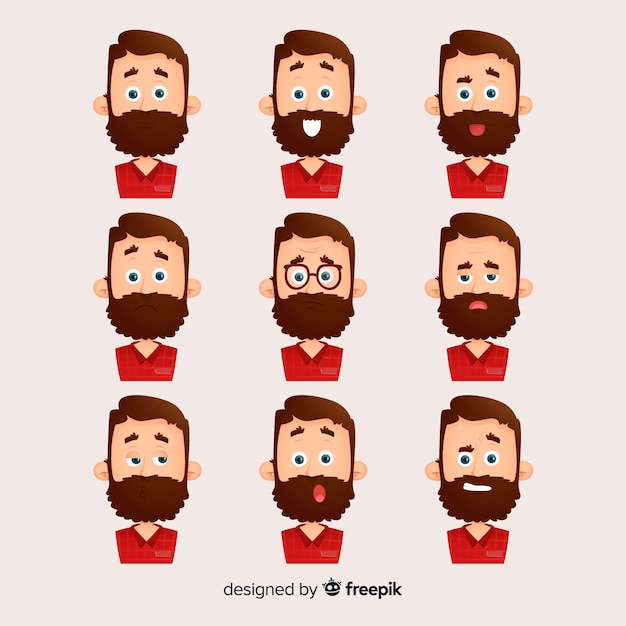 People showing emotions Free Vector