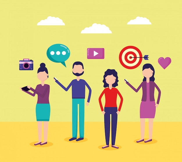 People social media Free Vector