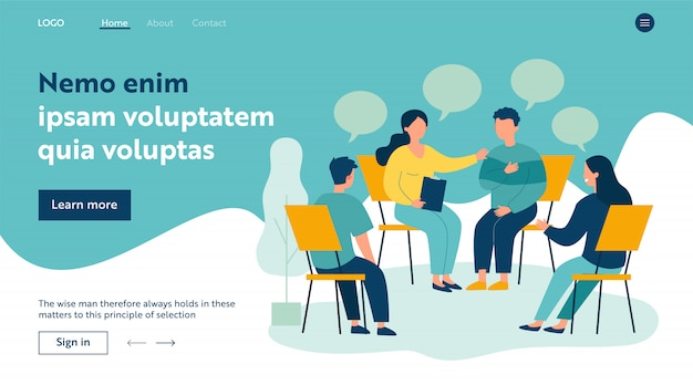 People suffering from problems Premium Vector
