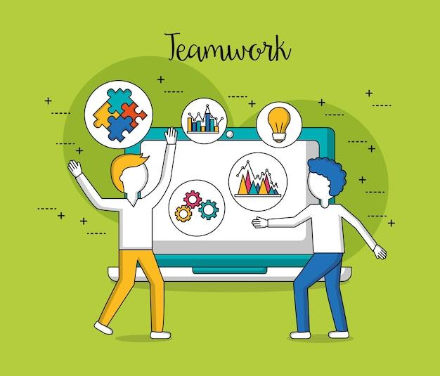 People teamwork Premium Vector