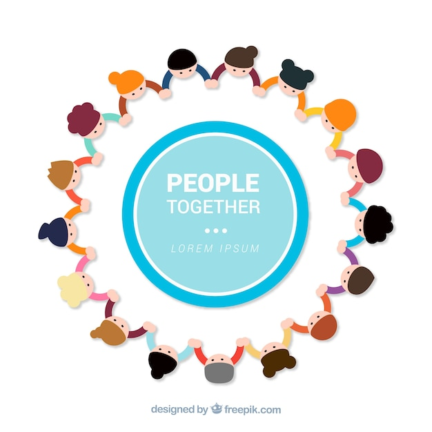 People together background Free Vector