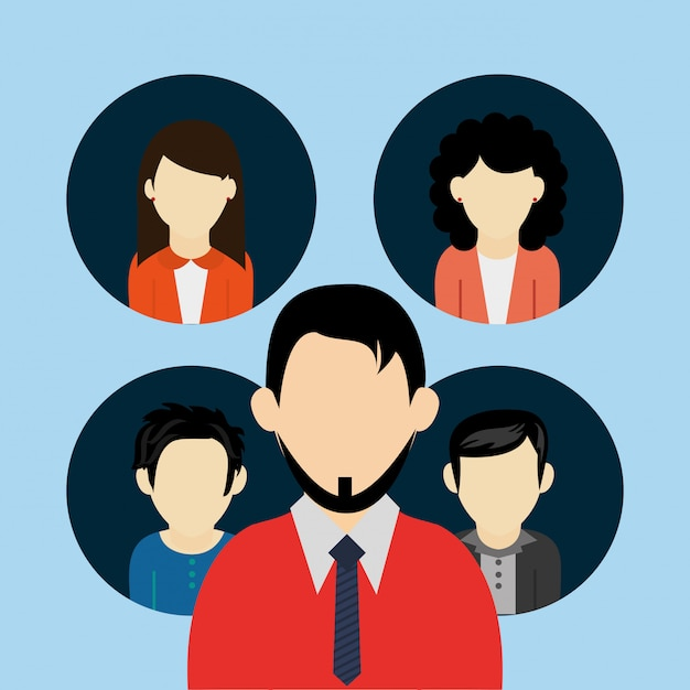 People users avatar icons image Premium Vector