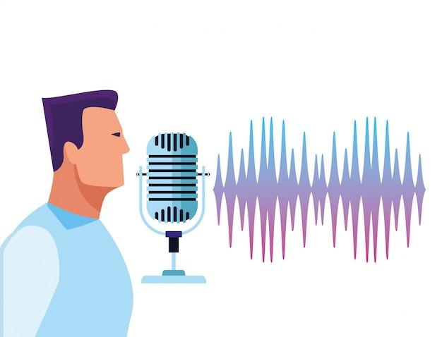 People using voice recognition Premium Vector