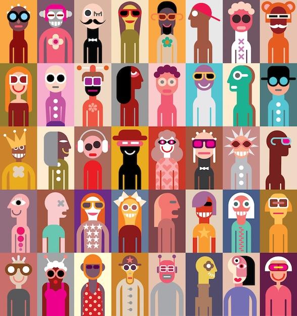 People vector illustration Premium Vector