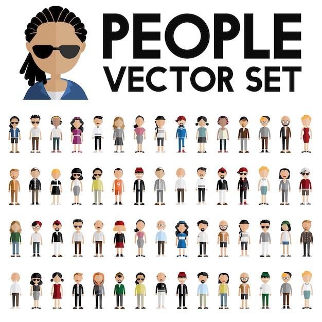 People vector set  Free Vector