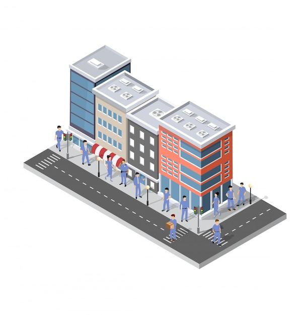 People walking around the city Premium Vector