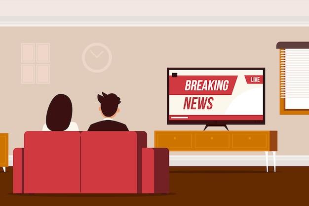 Persone che guardano le notizie Vettore gratuito