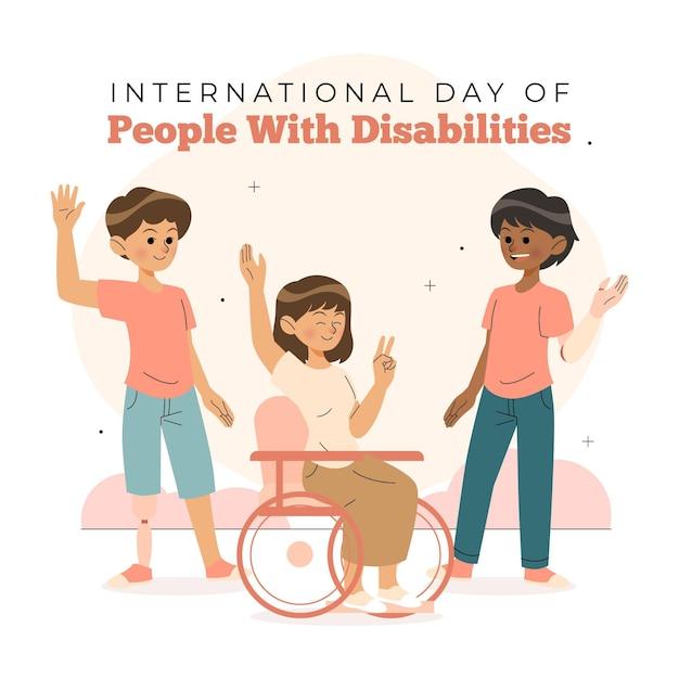 Международный день людей с инвалидностью Premium векторы